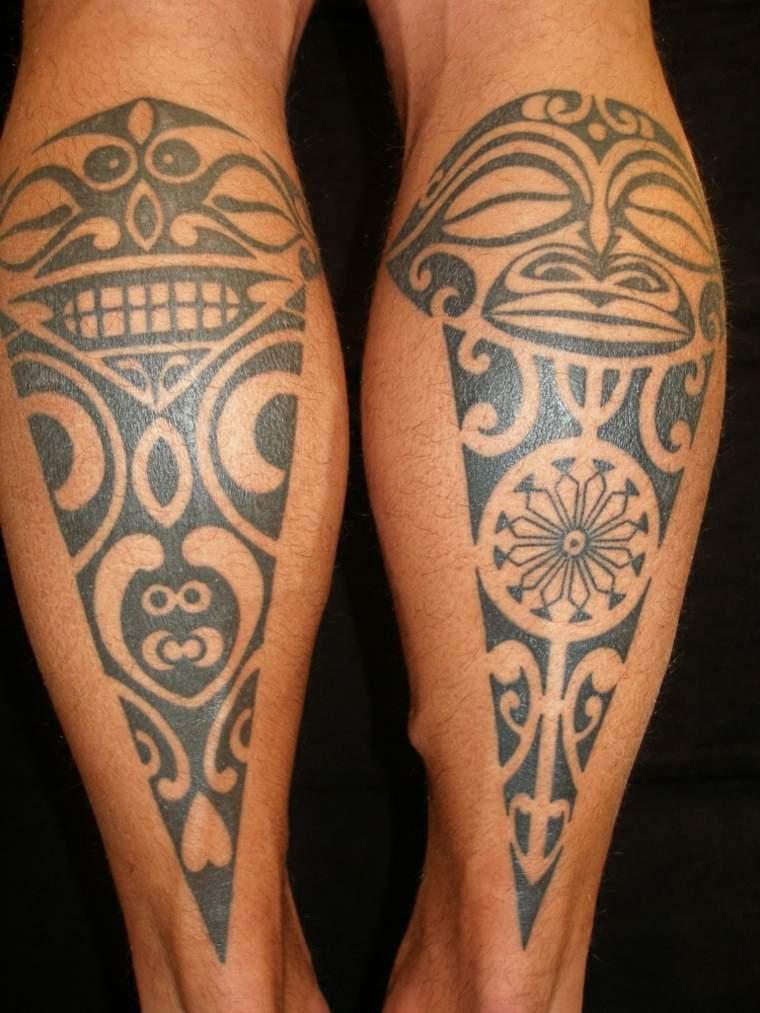 tatuaje polinesio gemelos