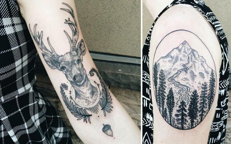 tatuajes brazo ciervo
