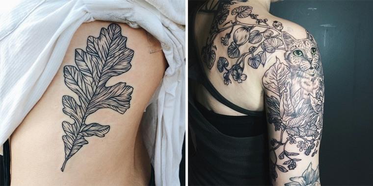 Tatuajes Brazo Unos Disenos Interesantes De Flora Y Fauna