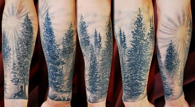 tatuajes brazo paisajes