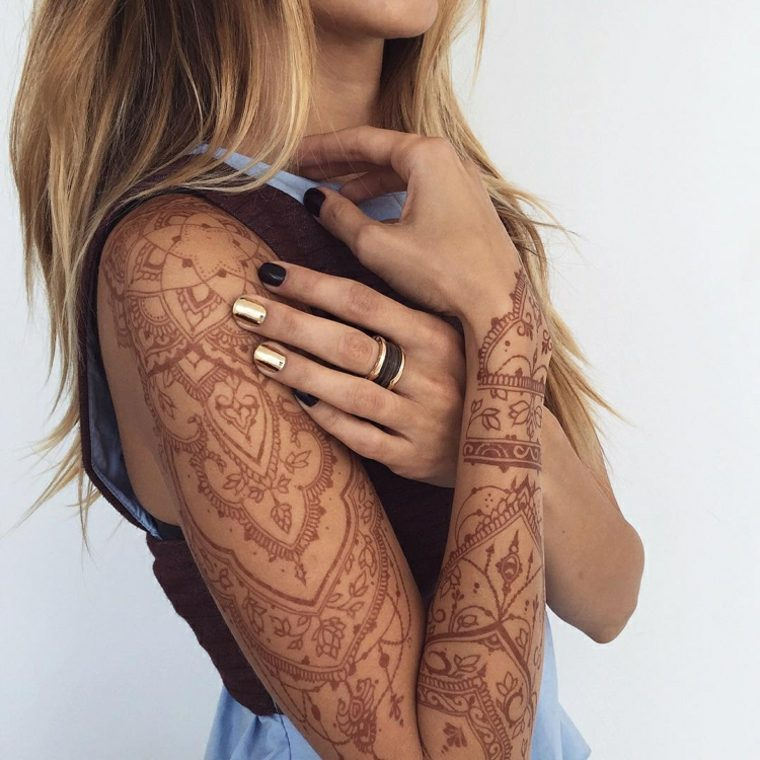 tatuajes de henna claros