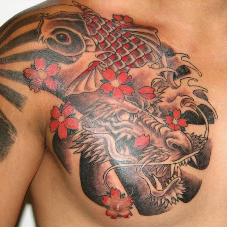 Tatuajes de peces Koi - significado y diseños originales -