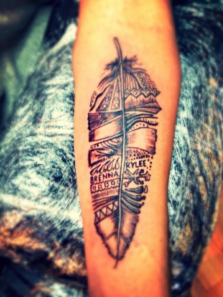 tatuajes de plumas disenos