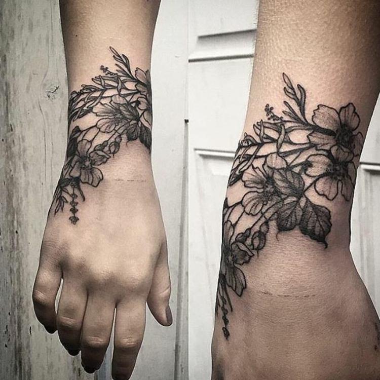 tatuajes en la muñeca efectos elegantes