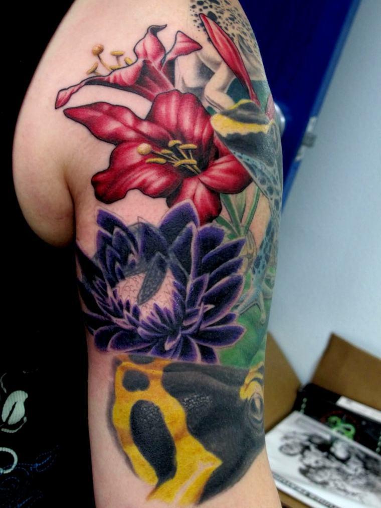 Flower Tattoo Designs Sleeve Black
