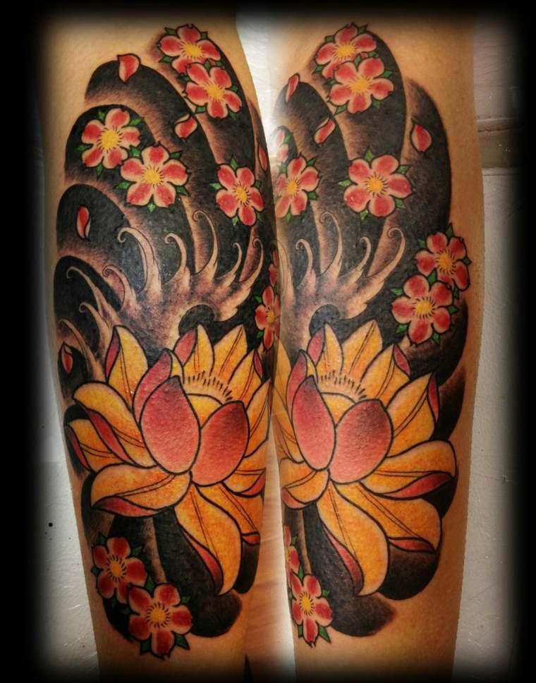 tatuajes media manga mujeres hombres