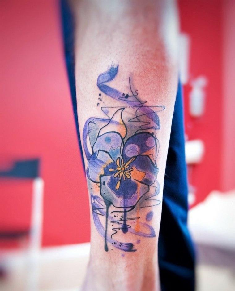 tatuajes originales acuarelas