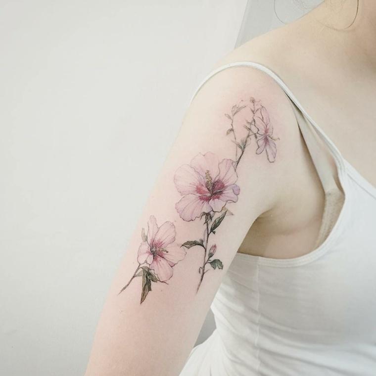 tatuajes para mujeres-flores-atractivas