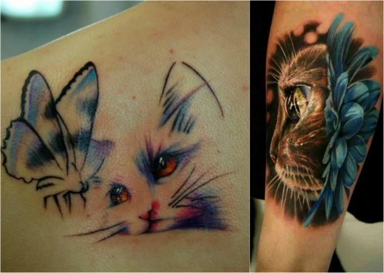 tatuajes pequenos de gatos