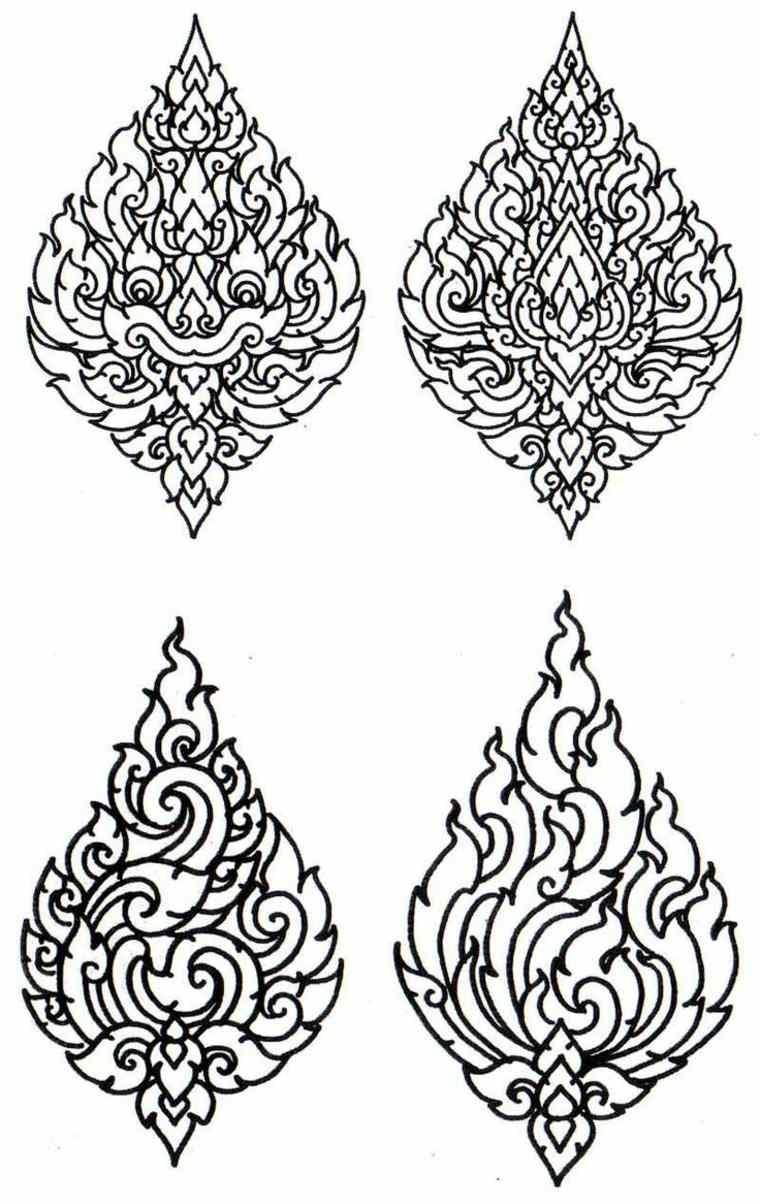 Thai Design Wallpaper : Tatuajes tailandeses dise?os tradicionales m?gicos