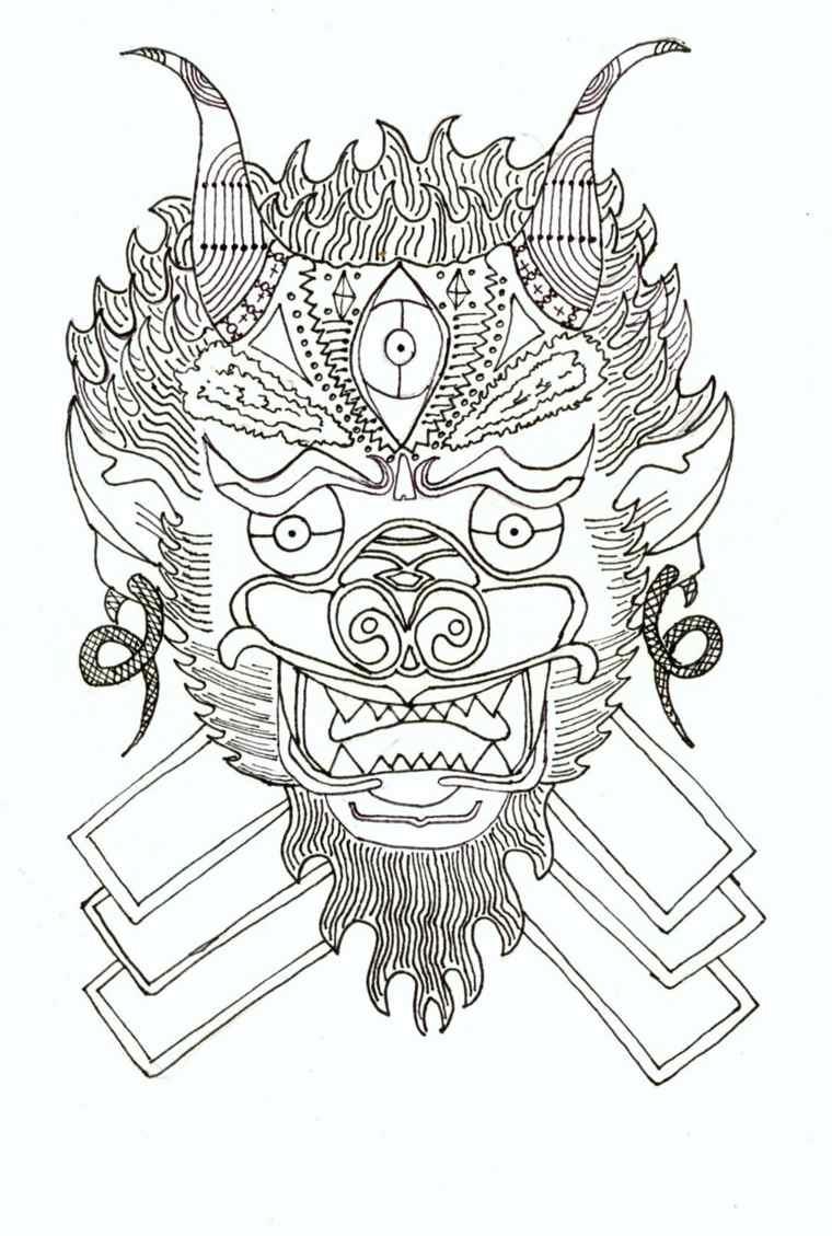 tatuajes tailandeses-opciones-originales-blanco-negro