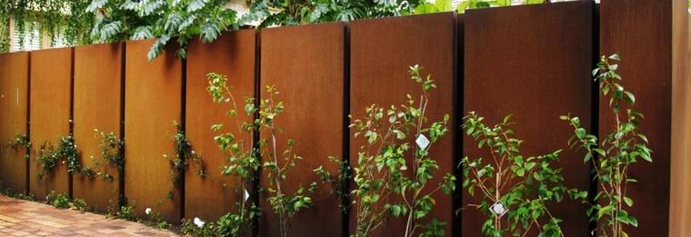 vallas de jardín de acero