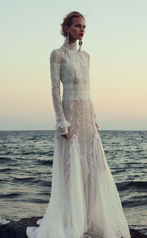 vestidos para bodas-christos-costarellos-cuello-alto