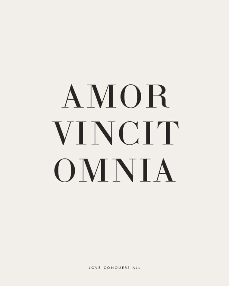 Think, that love conquers all latin
