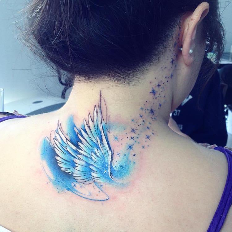 angeles tatuajes concepto decorativo