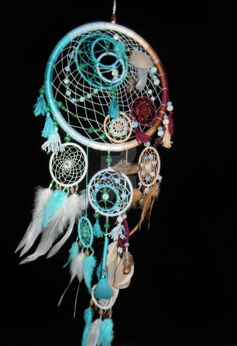 original cazador de sueños con plumas