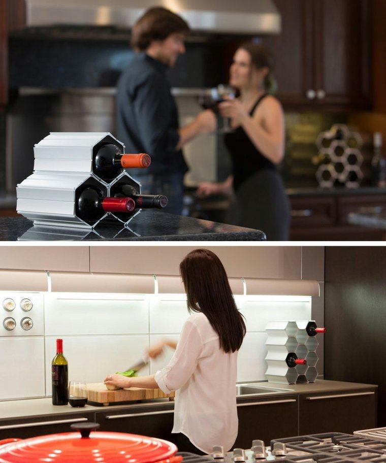 soportes de almacenamiento para vinos