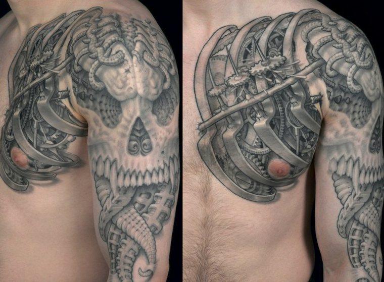 Tatuajes biomecanicos impresionantes