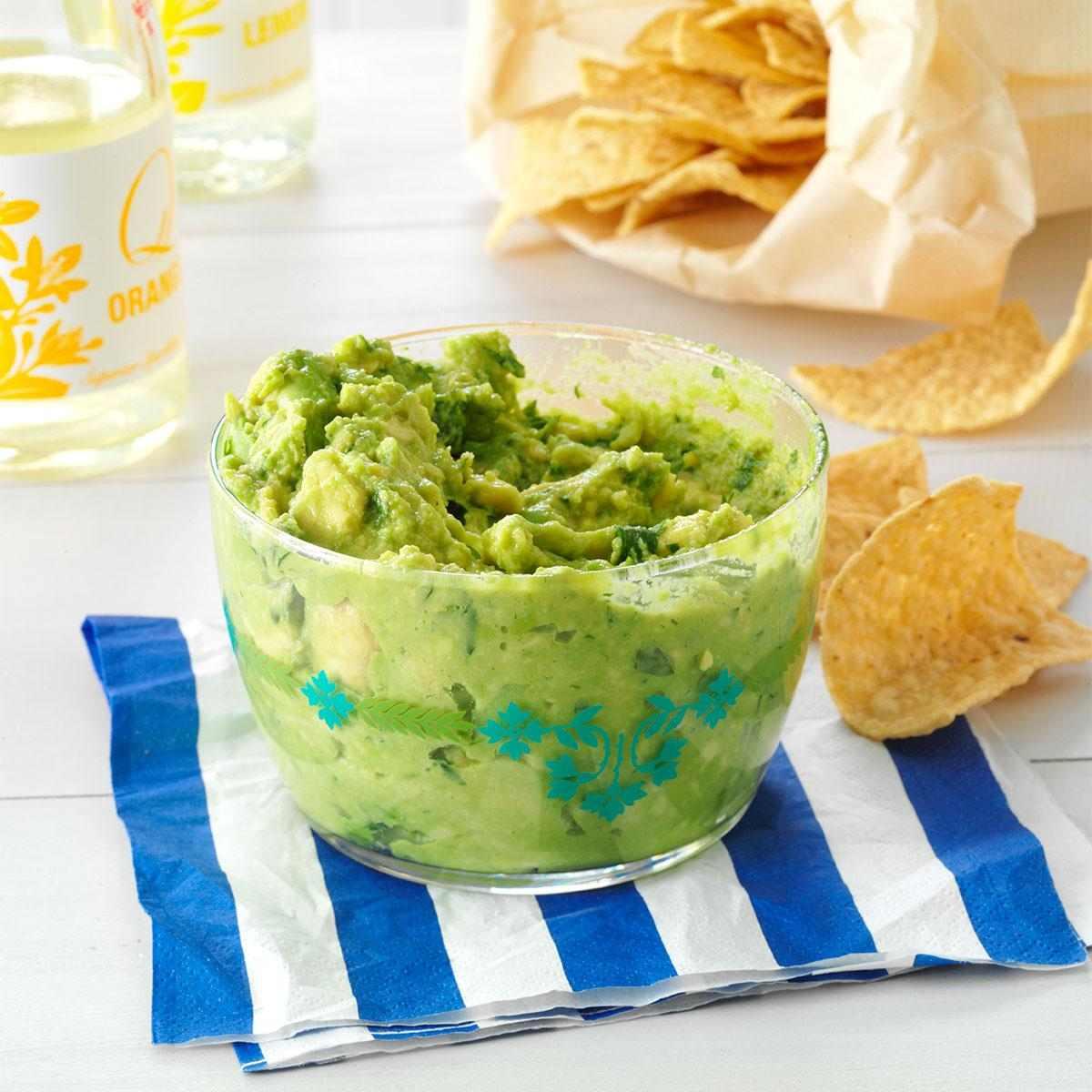 aperitivos frios guacamole