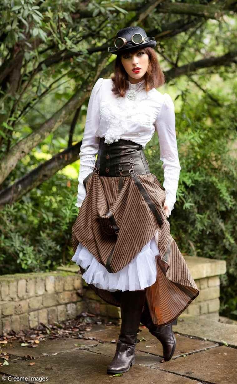 vestido steampunk y complementos