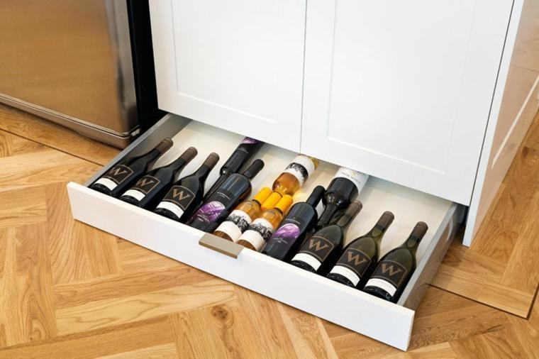 cajones de almacenamiento para vinos