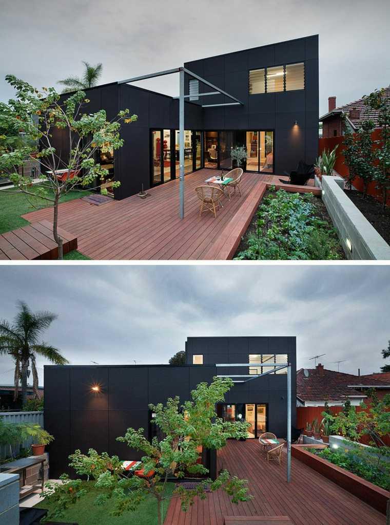 diseños de fachadas negras