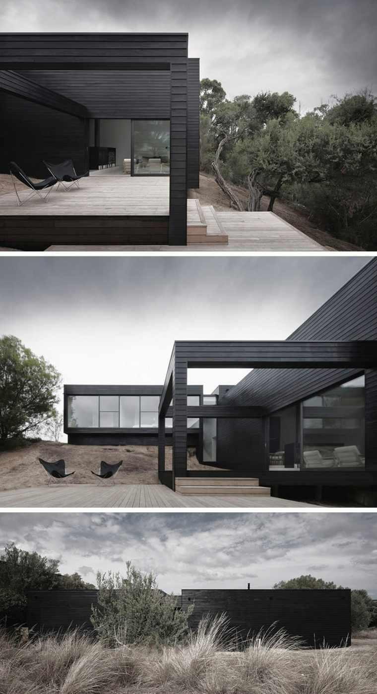 ejemplos de fachadas negras
