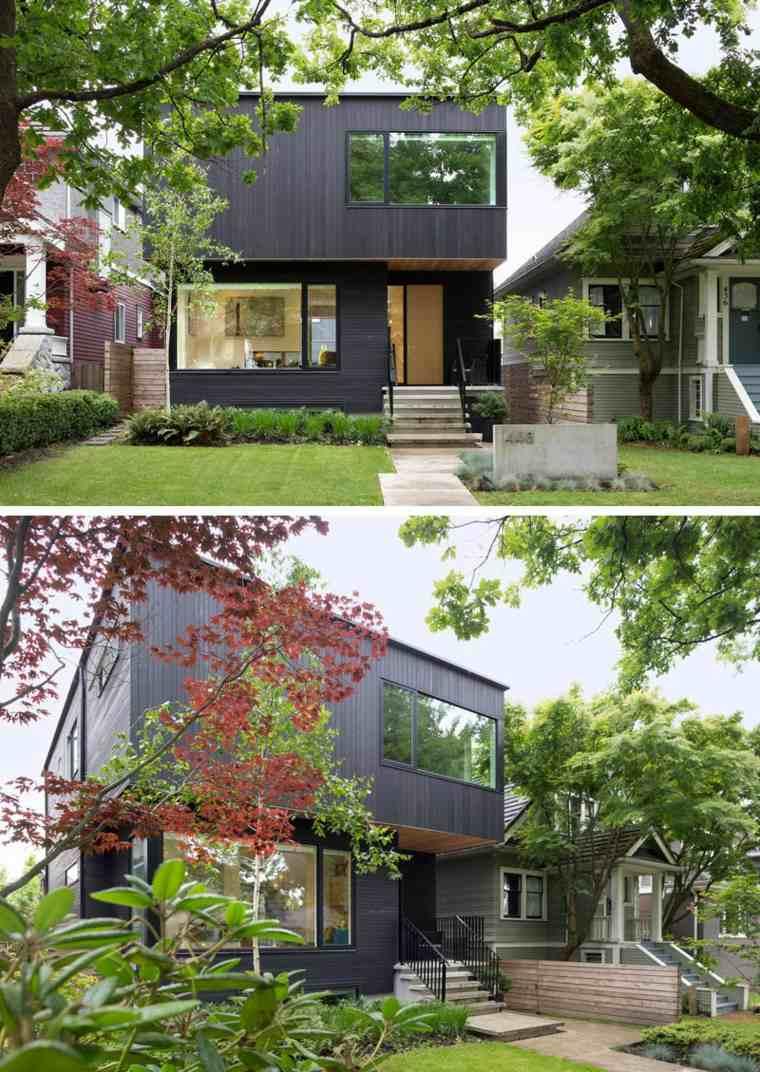 fachadas negras modernas