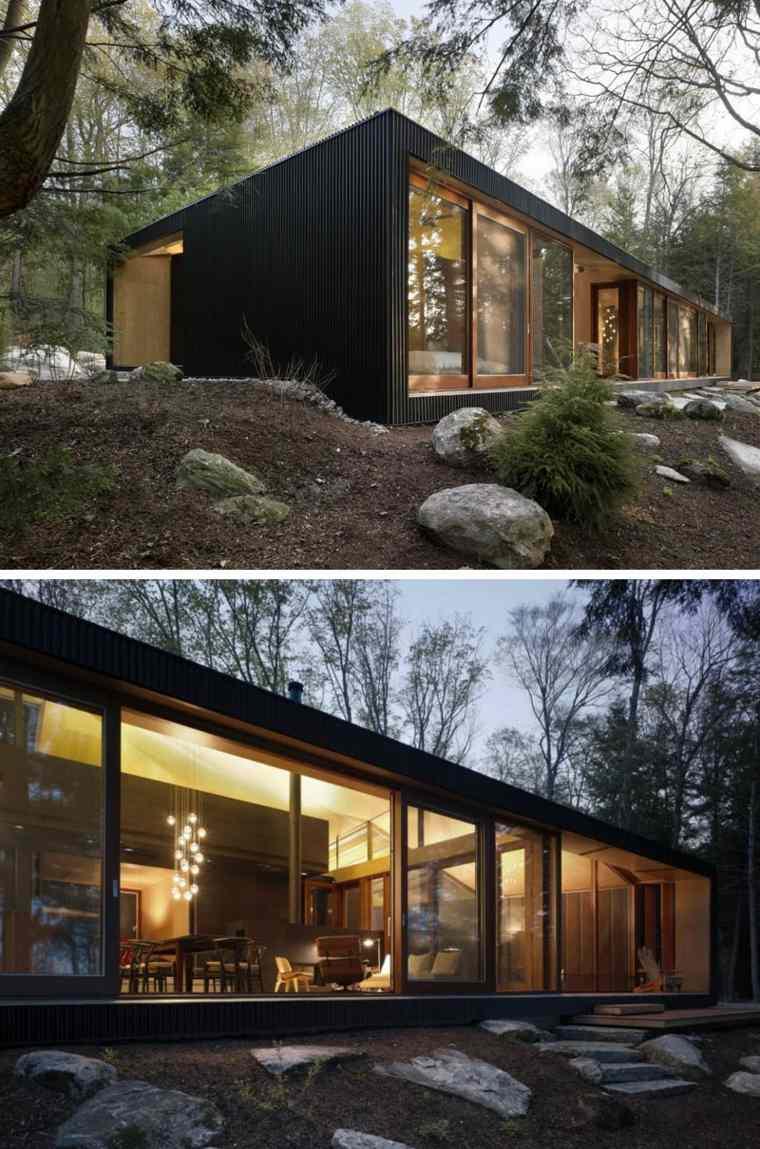 Ejemplos de casas modernas con fachadas de color negro for Casas modernas y grandes