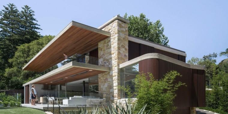 Impresionante casa de piedra y madera dise ada por luigi rosselli - Casas piedra y madera ...