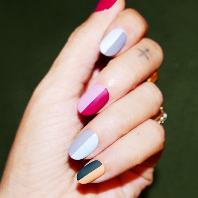 diseños de uñas combinacion-colores-unas-opciones-originales