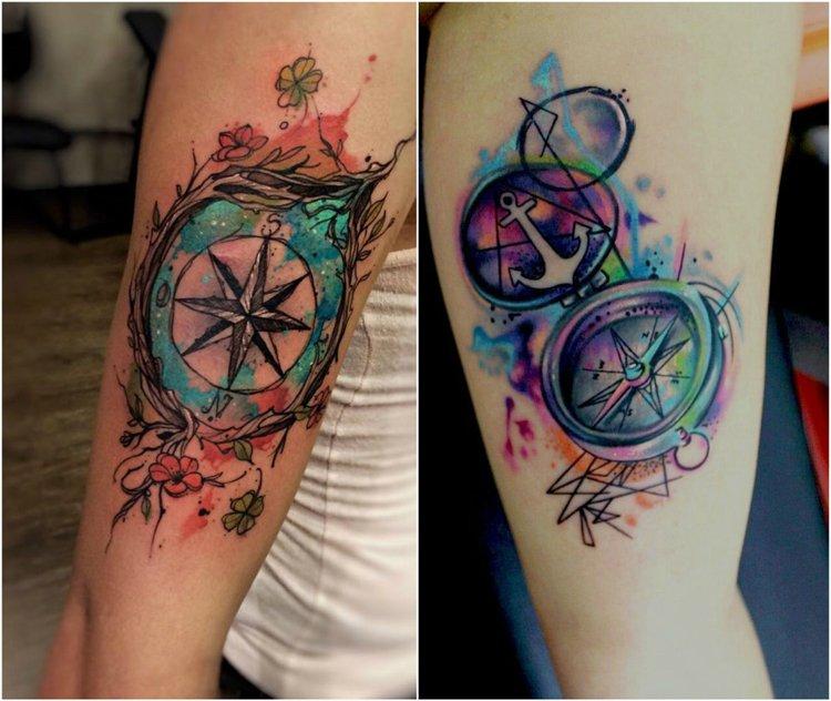 compas ideas brazo colorados intensos