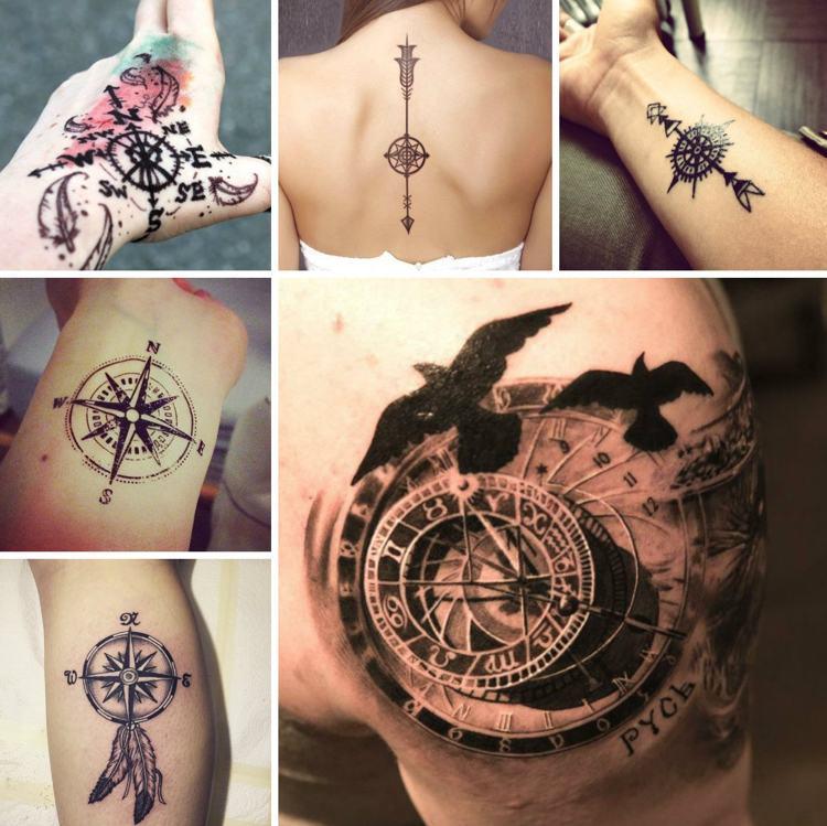 compas ideas tatuajes laterales