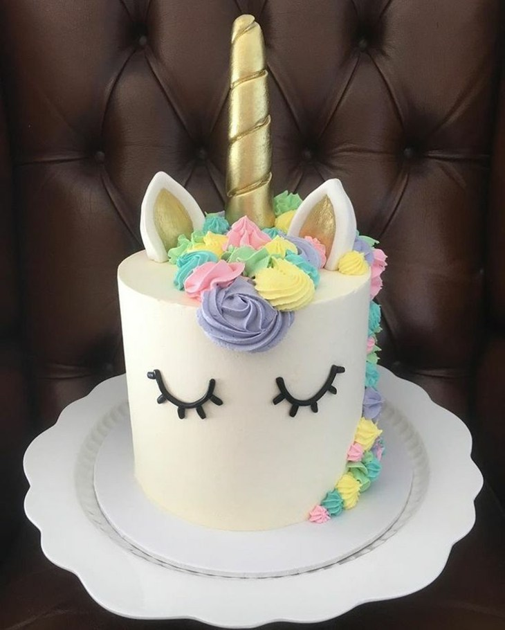 concepto torta unicornio efecto