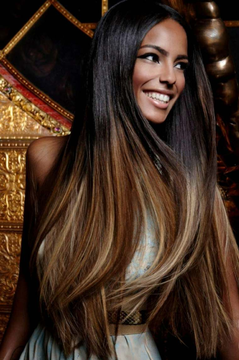 cortes de pelo largo-ombre-color-bello