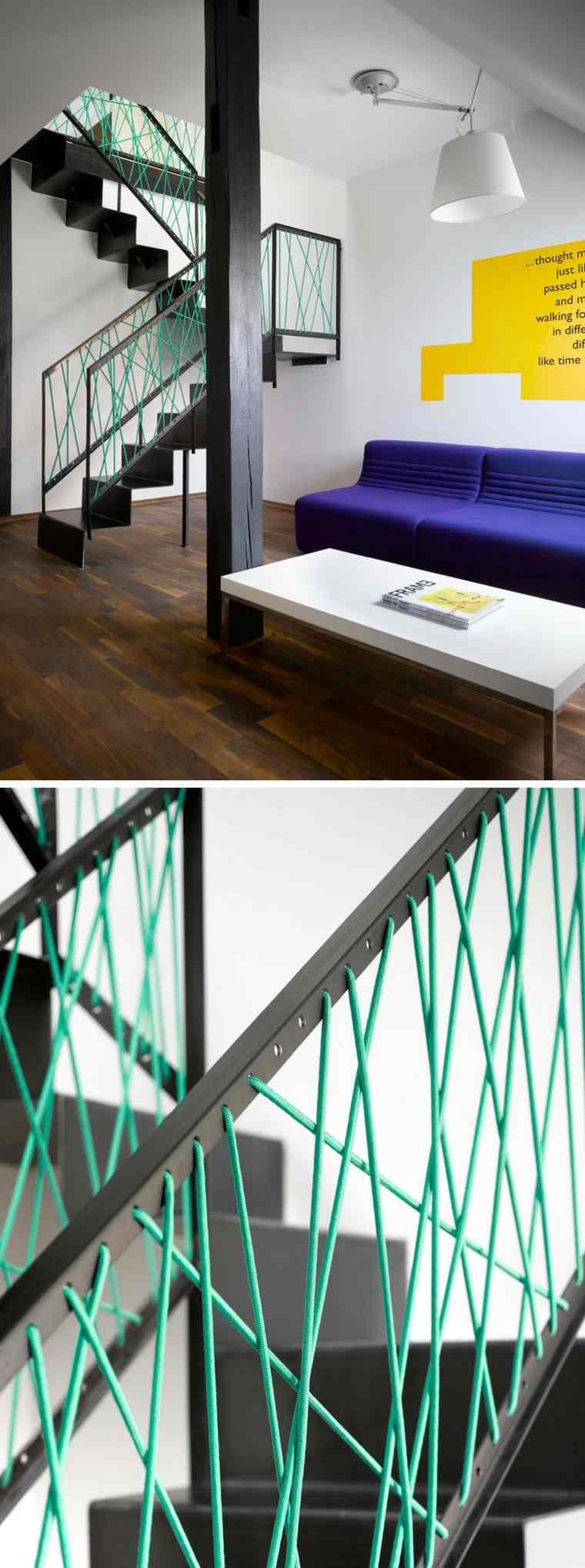 Barandillas de cuerda para escaleras de estilo moderno - Pasamanos de cuerda ...
