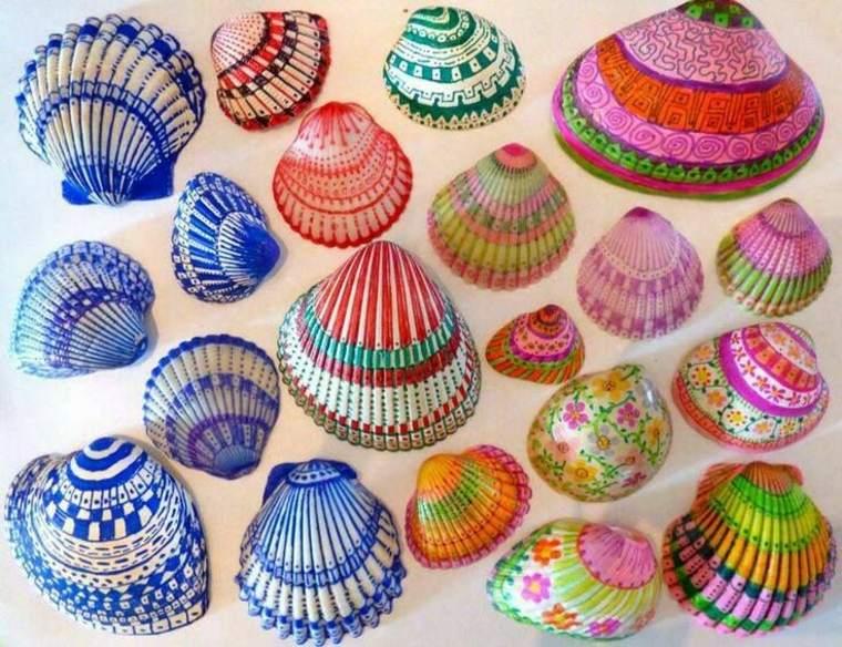 pintar conchas de mar