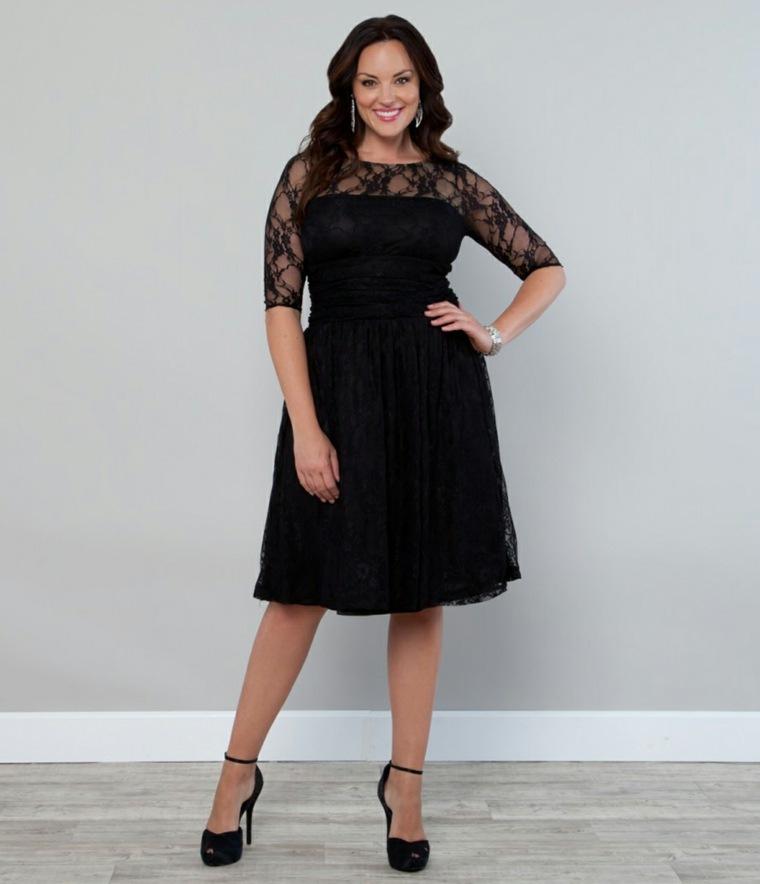 detalles negros vestido especail