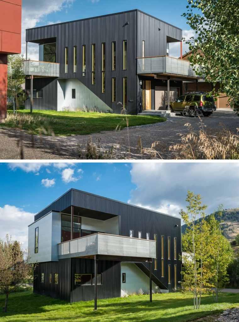 originales diseños de fachadas negras