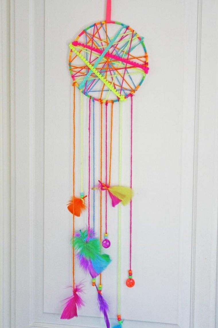 atrapador de sueños de colores