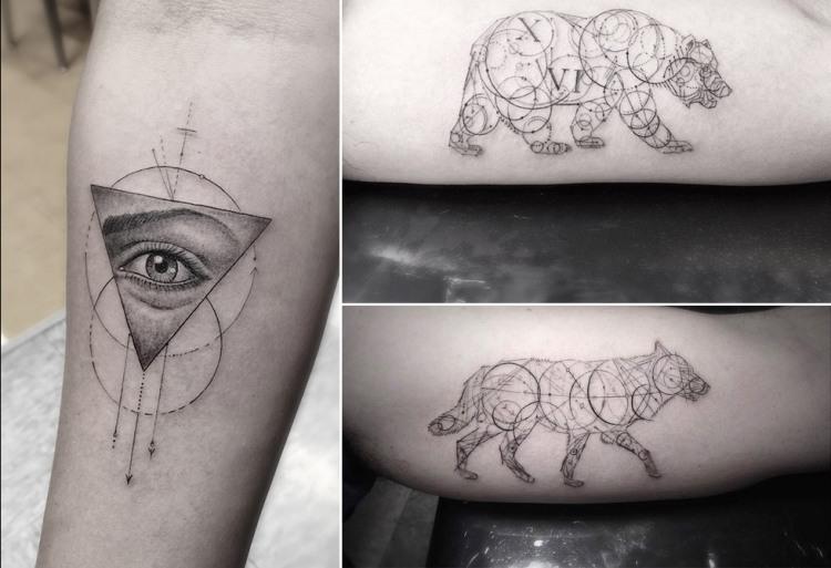 disenos-de-tatuajes-geometricos-filigrana-dr-woo-oso-lobo