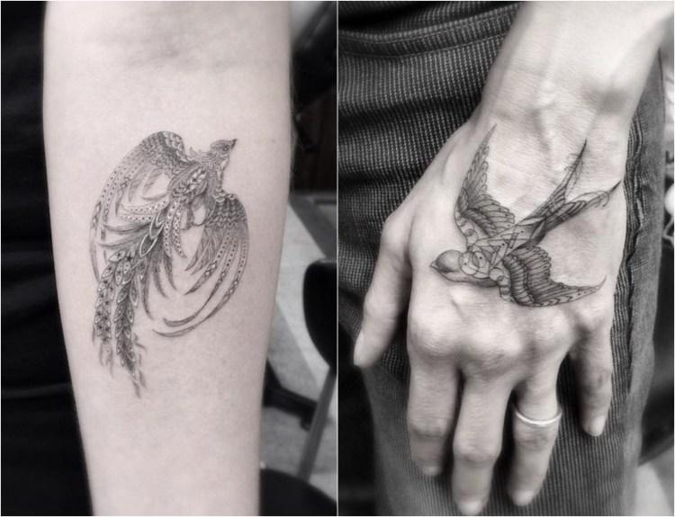 disenos-de-tatuajes-geometricos-filigrana-dr-woo-pajaros-ideas