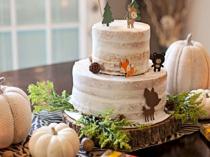 divertida torta infantil otoño