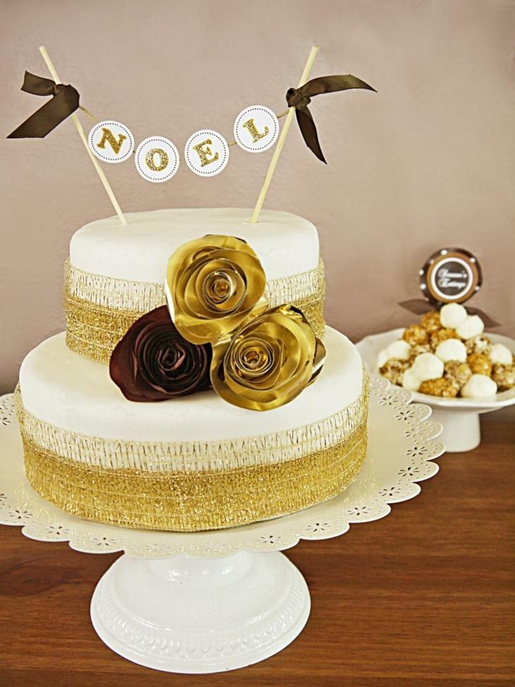 dorado adornos para torta