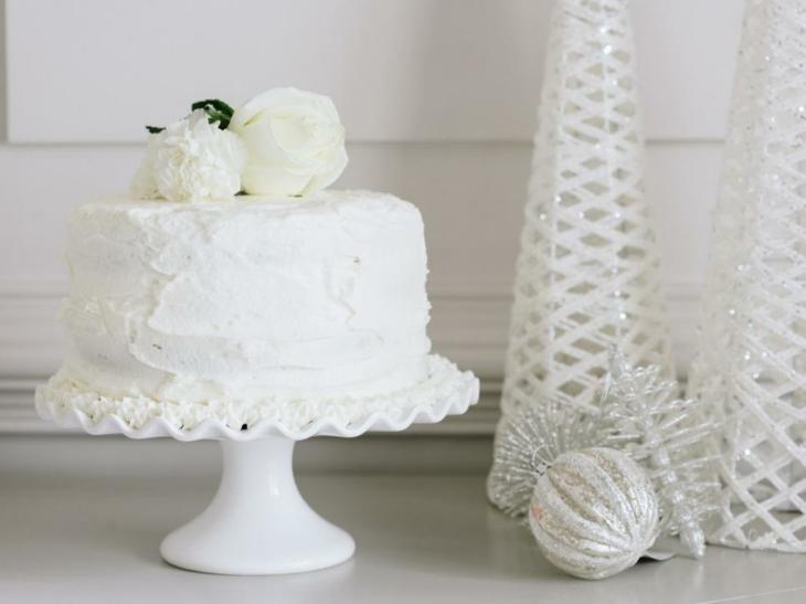 elegante torta blanca especial