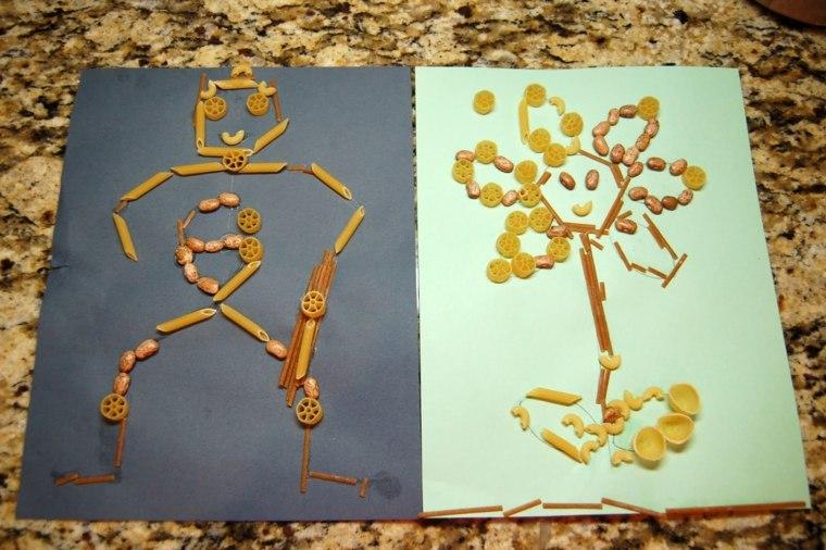 Esqueletos de pasta