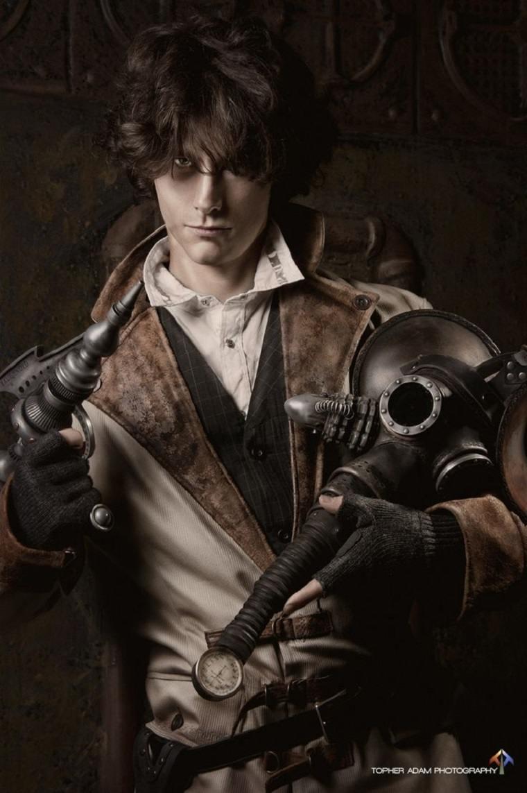 hombre steampunk
