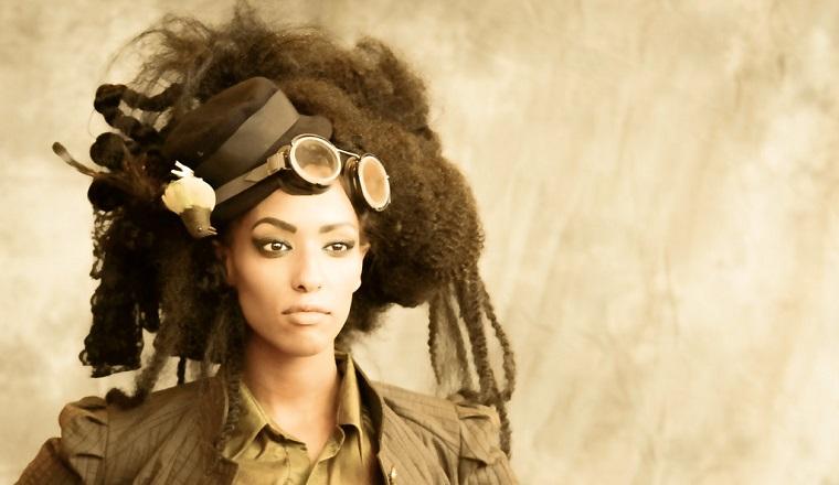 peinado a la moda steampunk
