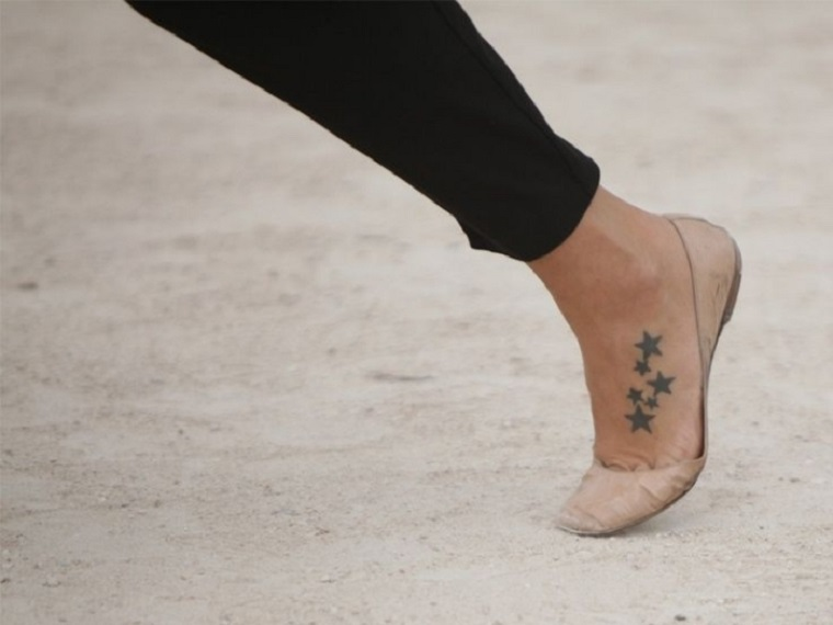 estrellas en el pie