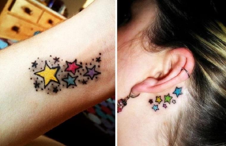 estrellas de colores